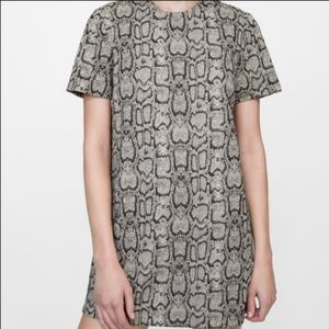 Zara Woman snake print mini dress/tunic